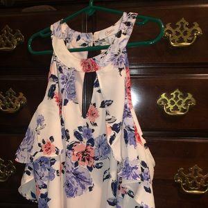Candie's Dresses - Cold shoulder flowered dress NEVER WORN